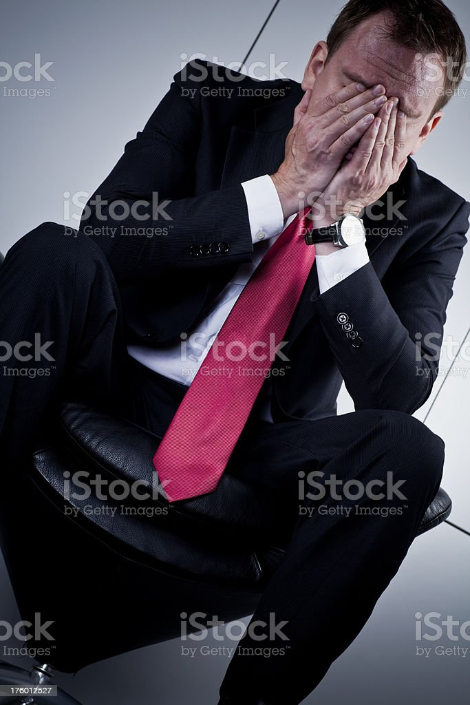 Business failure royalty-free stock photo