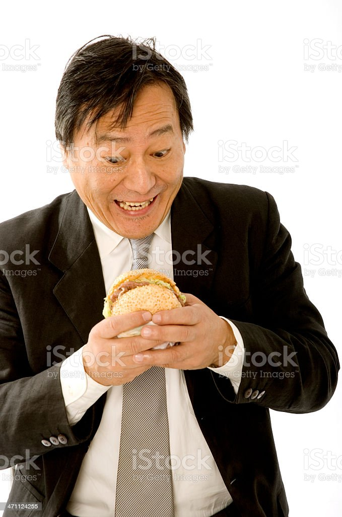 Business fast food lucnh royalty-free stock photo