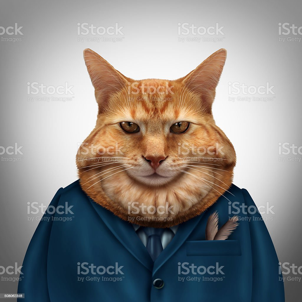Business Fat Cat stock photo