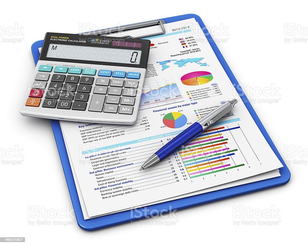 Business finance and accounting concept stock photo