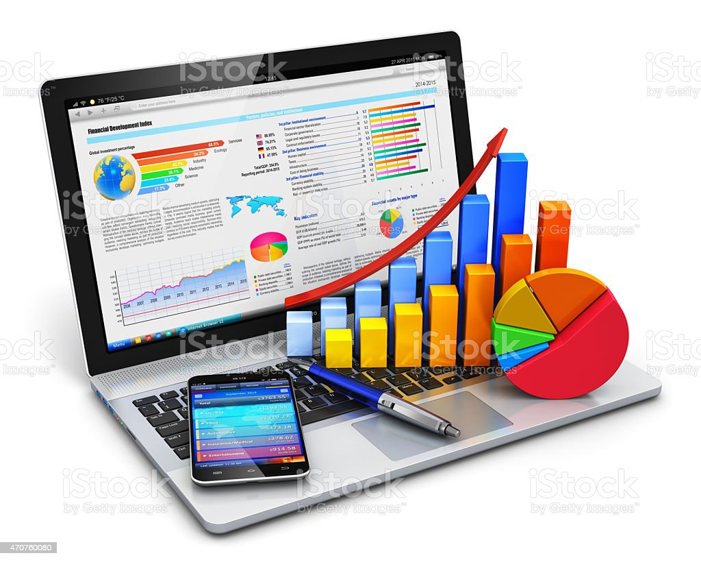 Business, finance and accounting concept stock photo