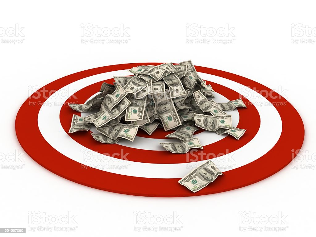 Business finance target money concept stock photo
