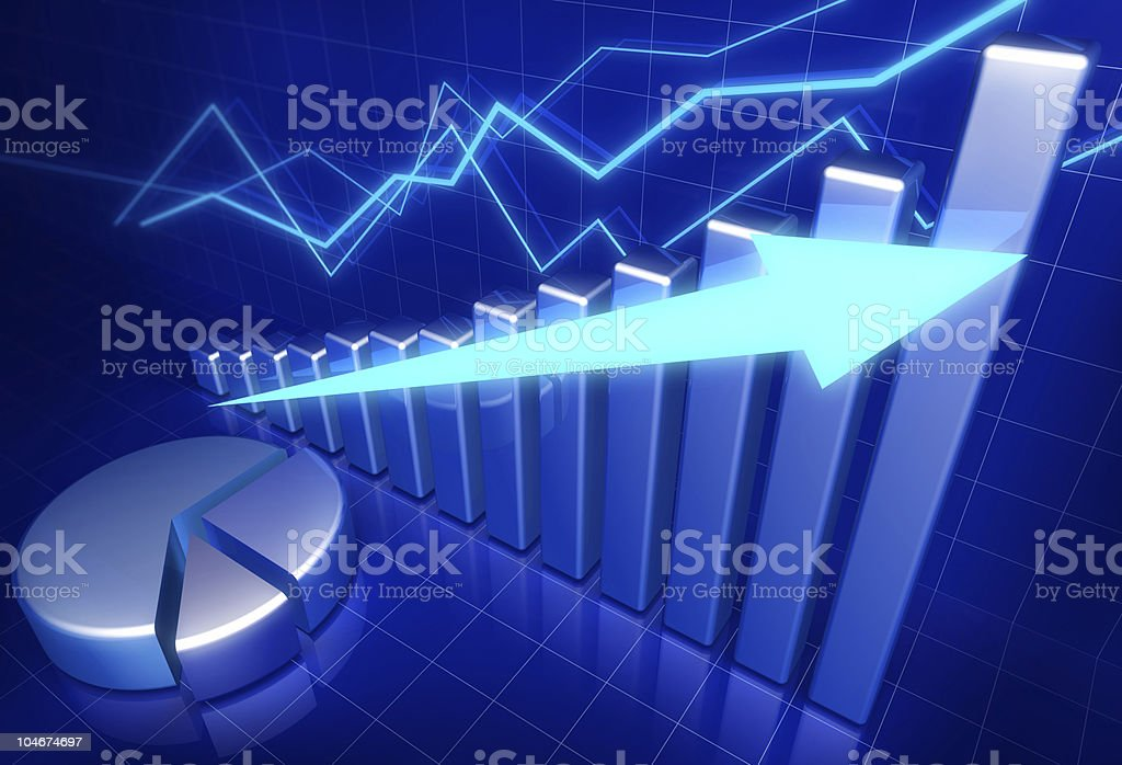 Business financial growth concept royalty-free stock photo