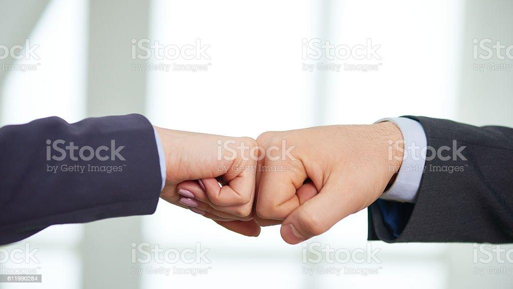Business fist bump stock photo