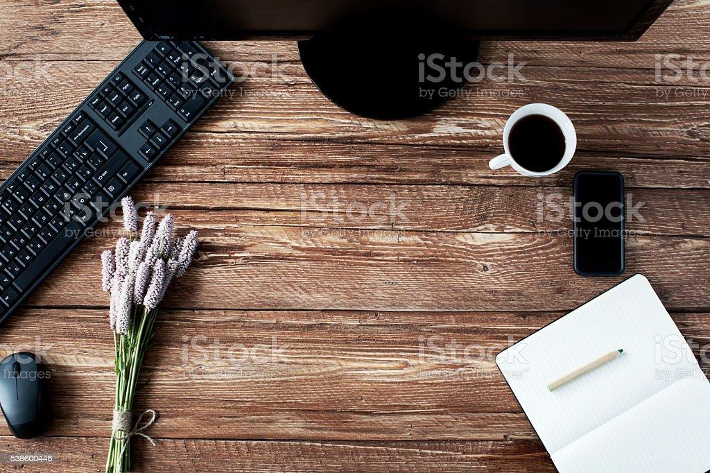 Business flatlay stock photo