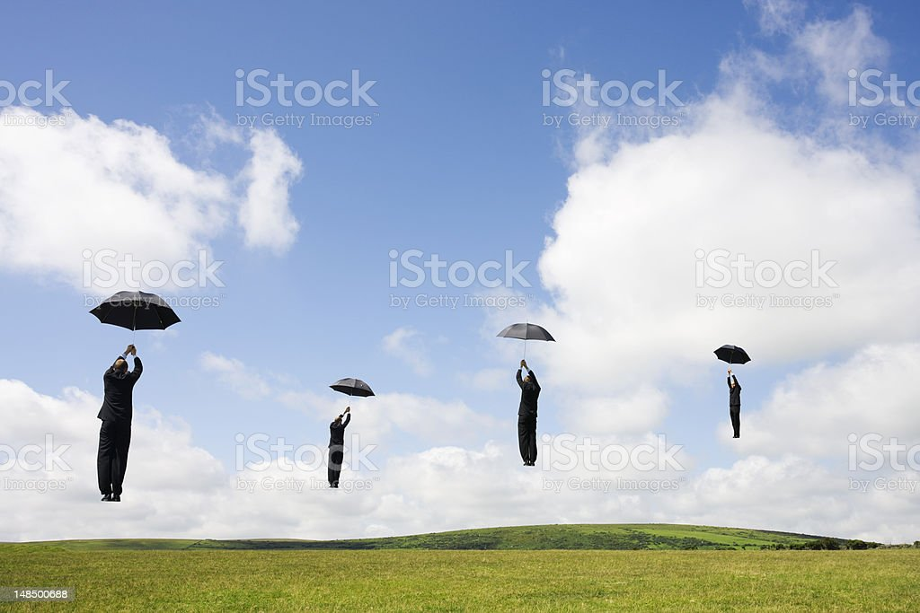 Business flight stock photo