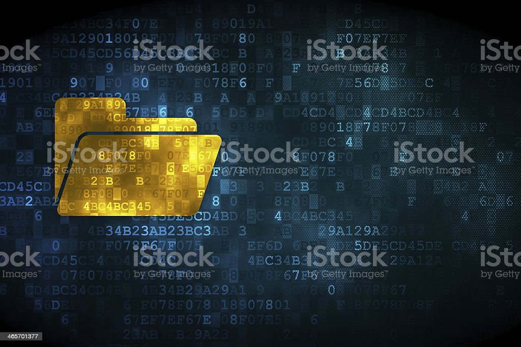 Business folder on a digital background stock photo