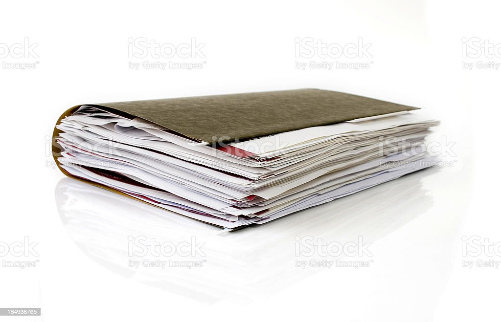 Business folder royalty-free stock photo