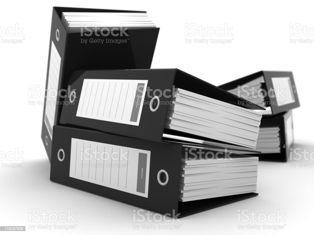 Business Folders royalty-free stock photo