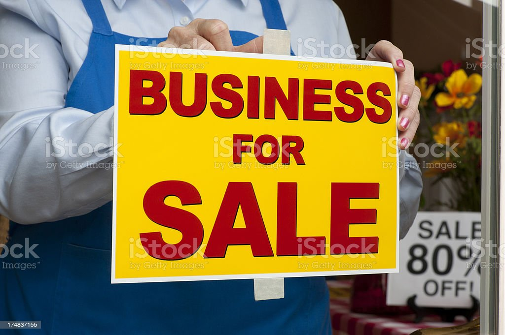 Business for Sale Sign stock photo