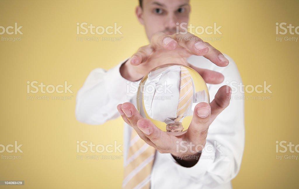 business fortuneteller stock photo