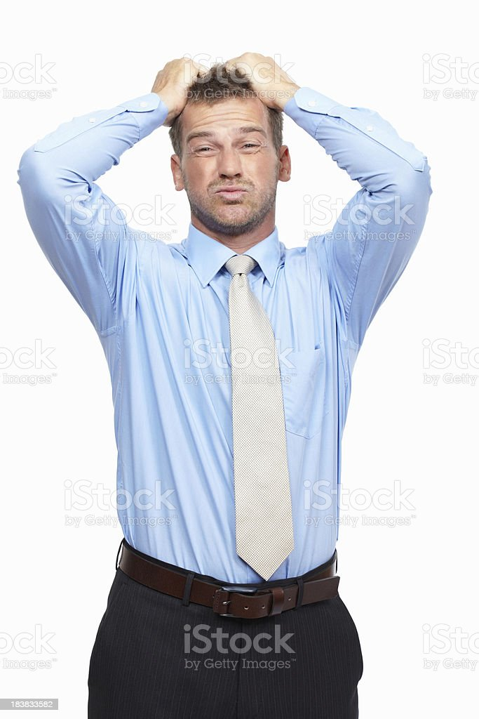 Business frustration royalty-free stock photo