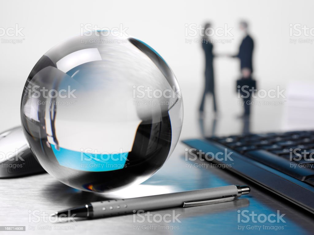 Business Future in a Crystal Ball royalty-free stock photo