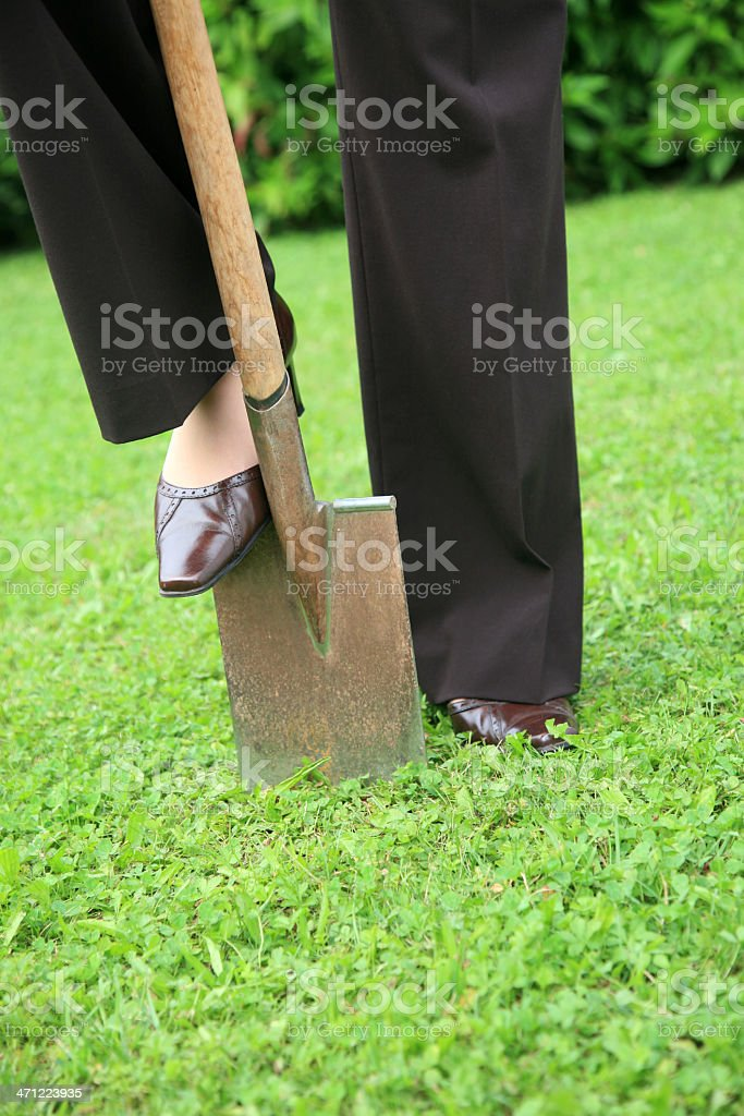 Business garden work royalty-free stock photo