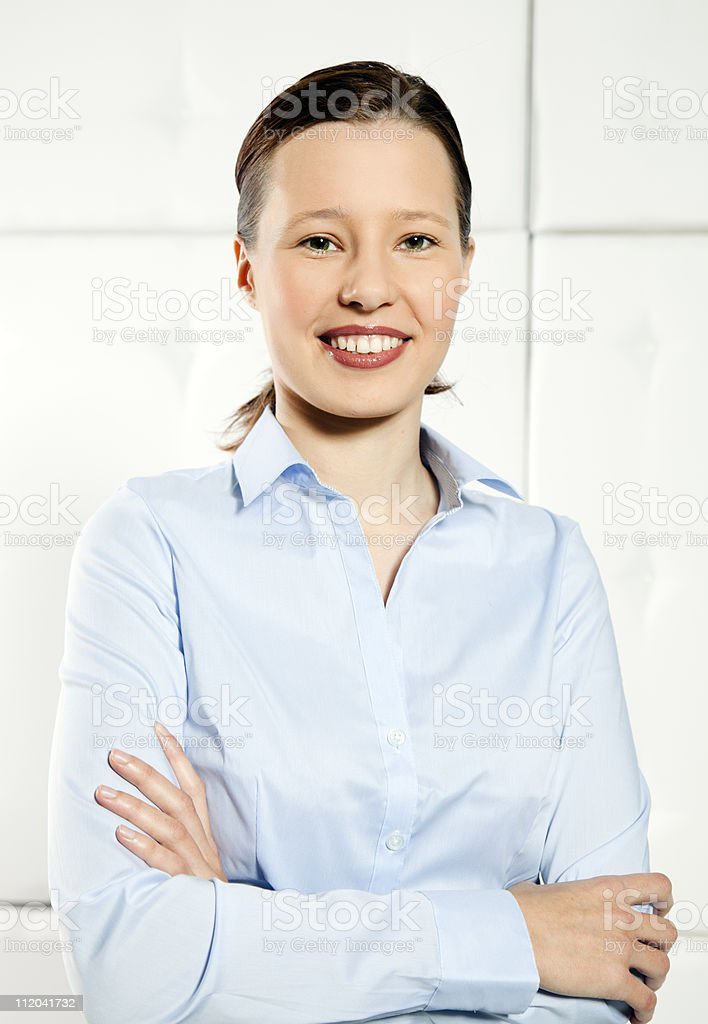 Business girl stock photo