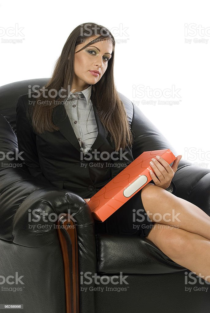 Business girl stock photo