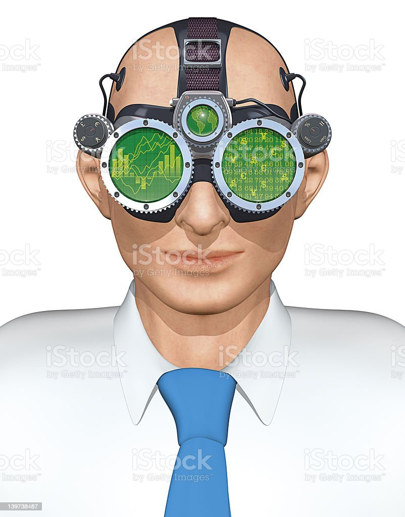 Business Goggles royalty-free stock photo