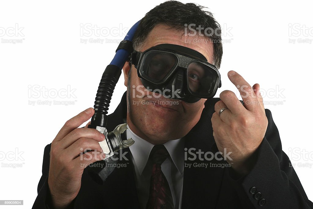 Business goind down stock photo