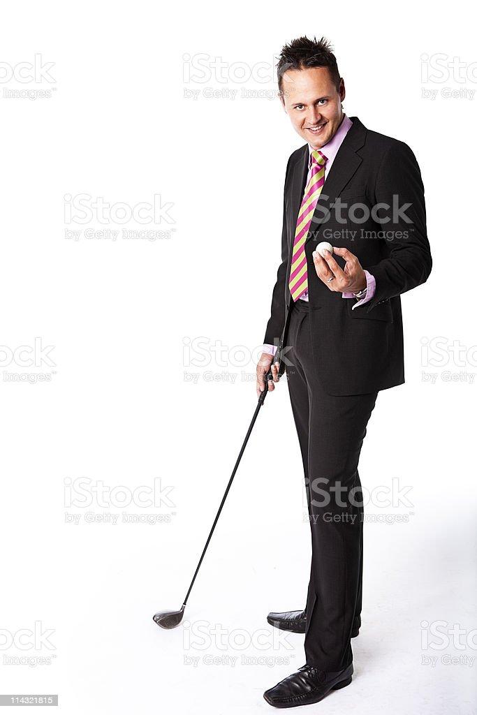 Business golfer royalty-free stock photo