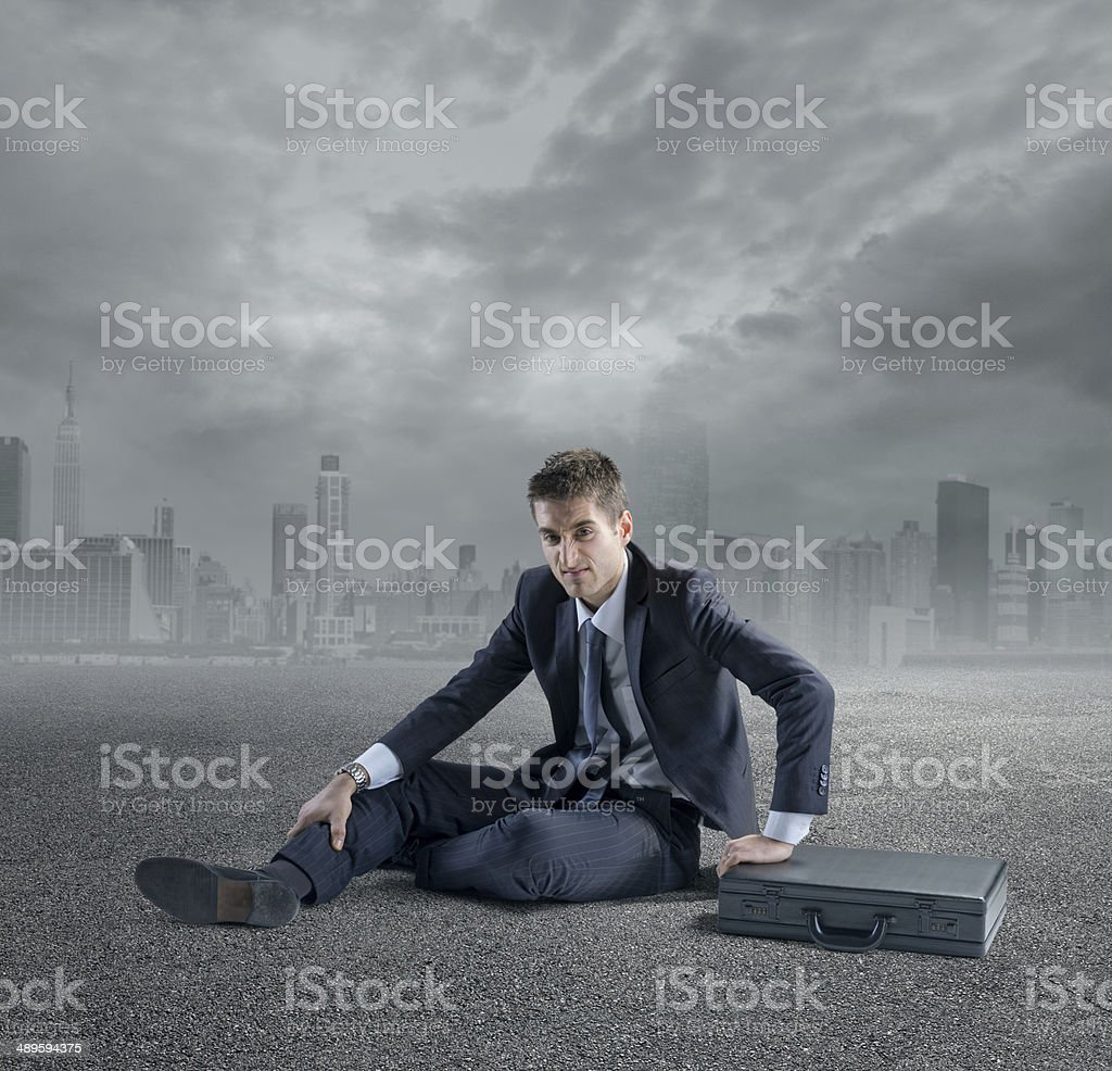 Business gone wrong stock photo