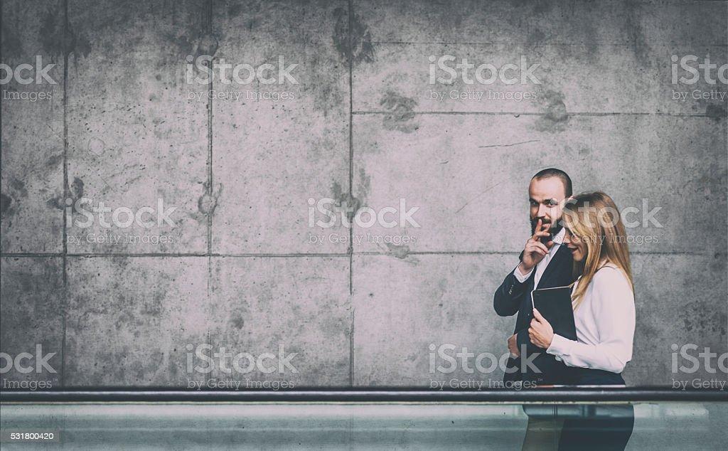 Business gossip stock photo