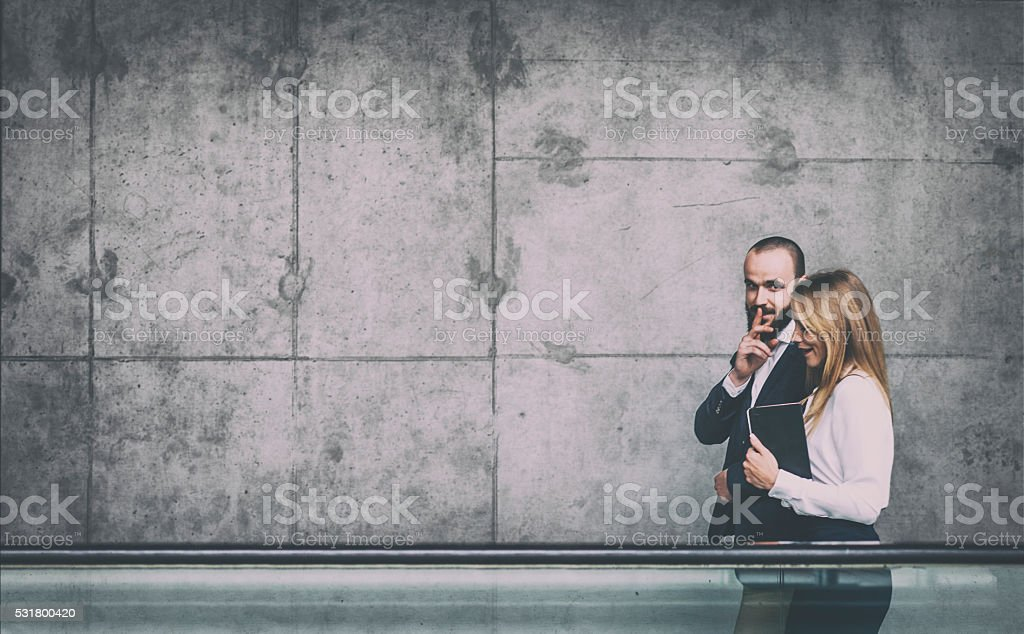 Business gossip stock photo