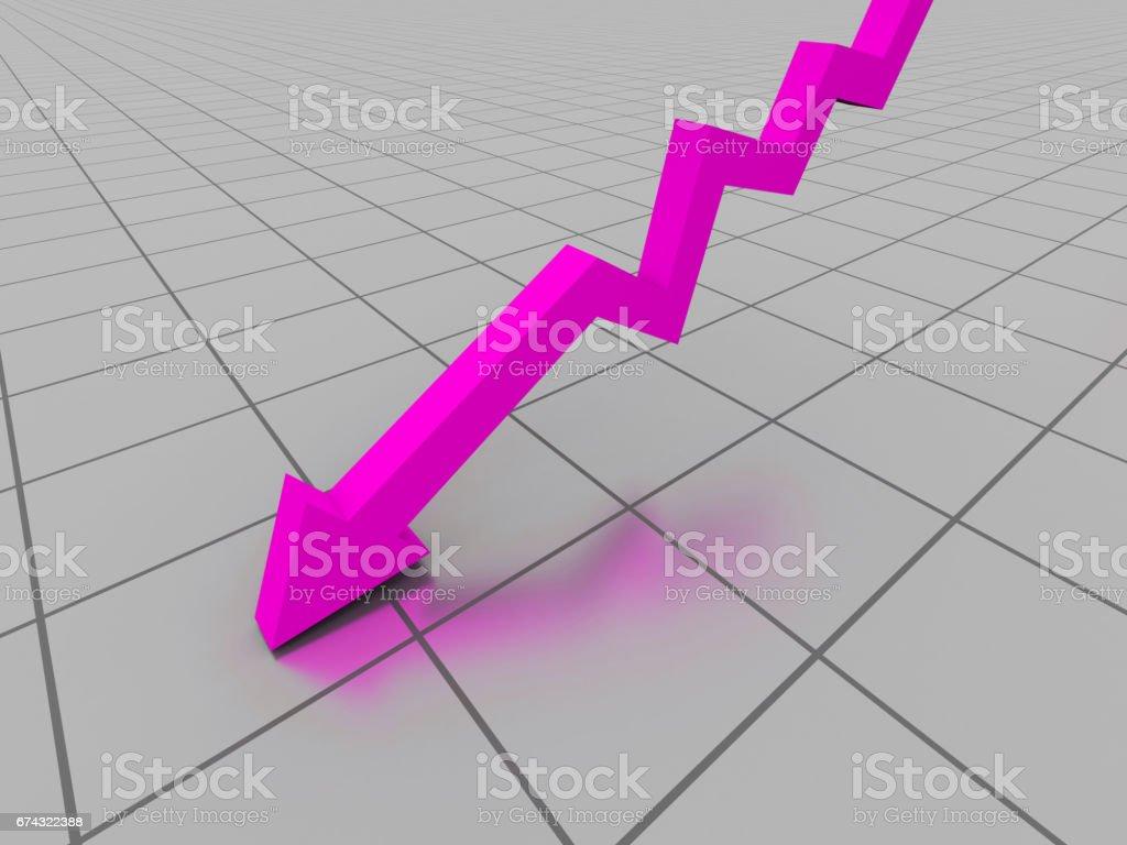 Business graph. 3d illustration stock photo