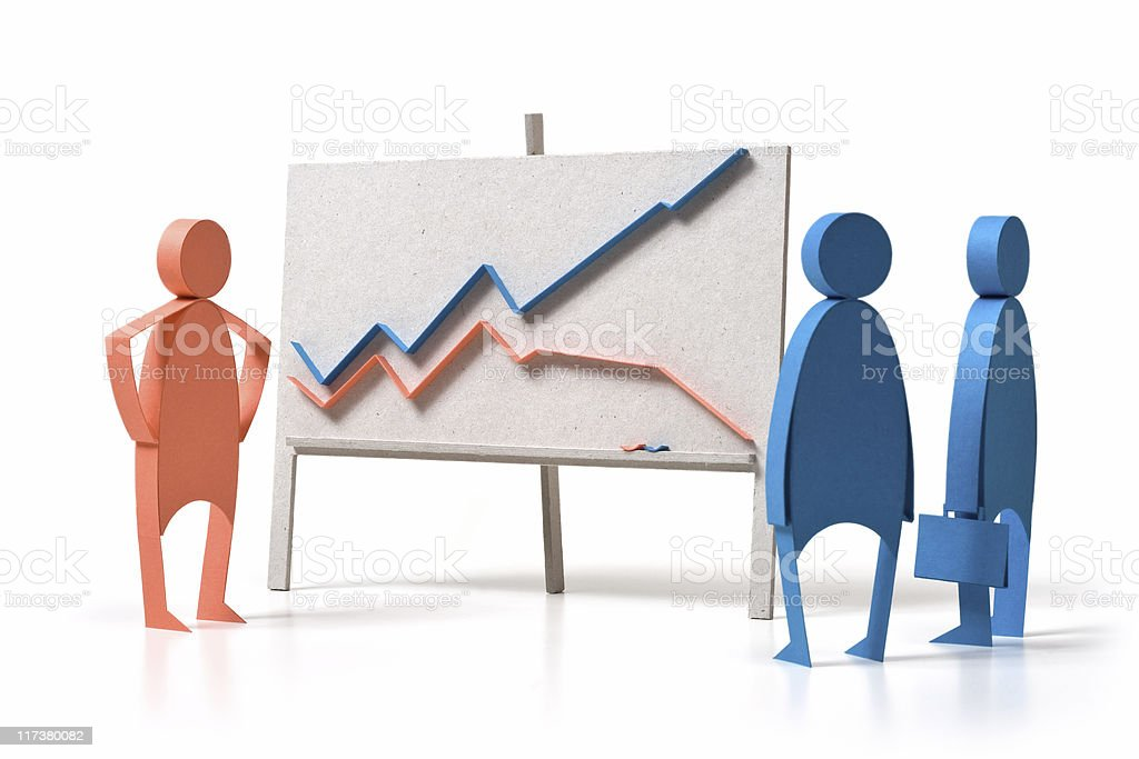 Business graph and emotions royalty-free stock photo