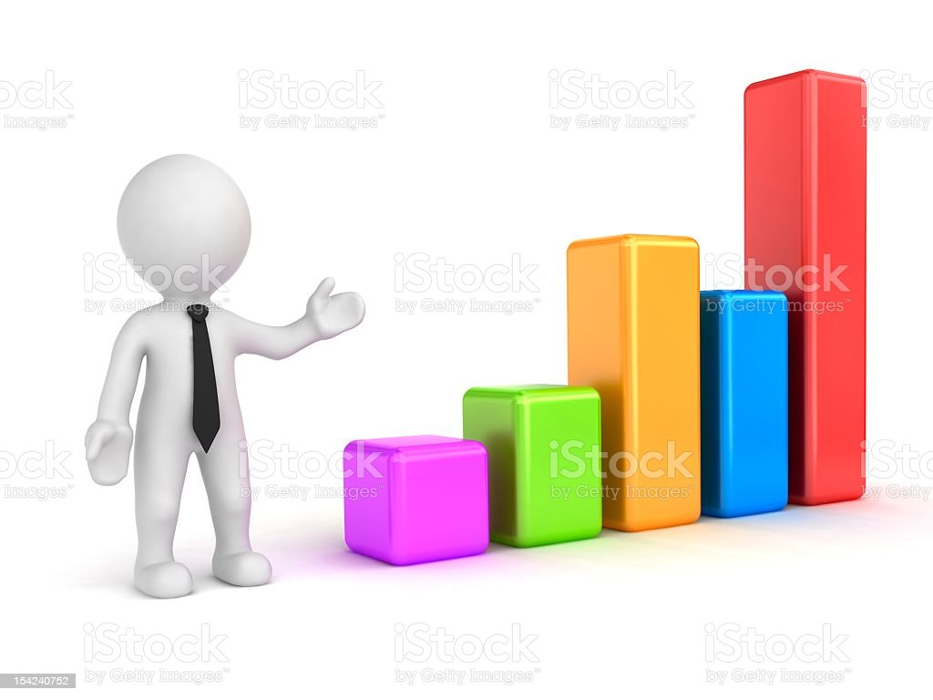 Business Graph and statistics. Investment concept stock photo