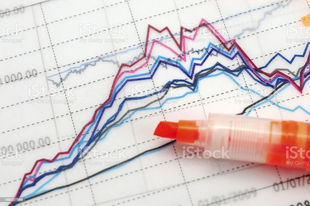 Business Graph Chart-Growth Concept-Business Finance Success royalty-free stock photo