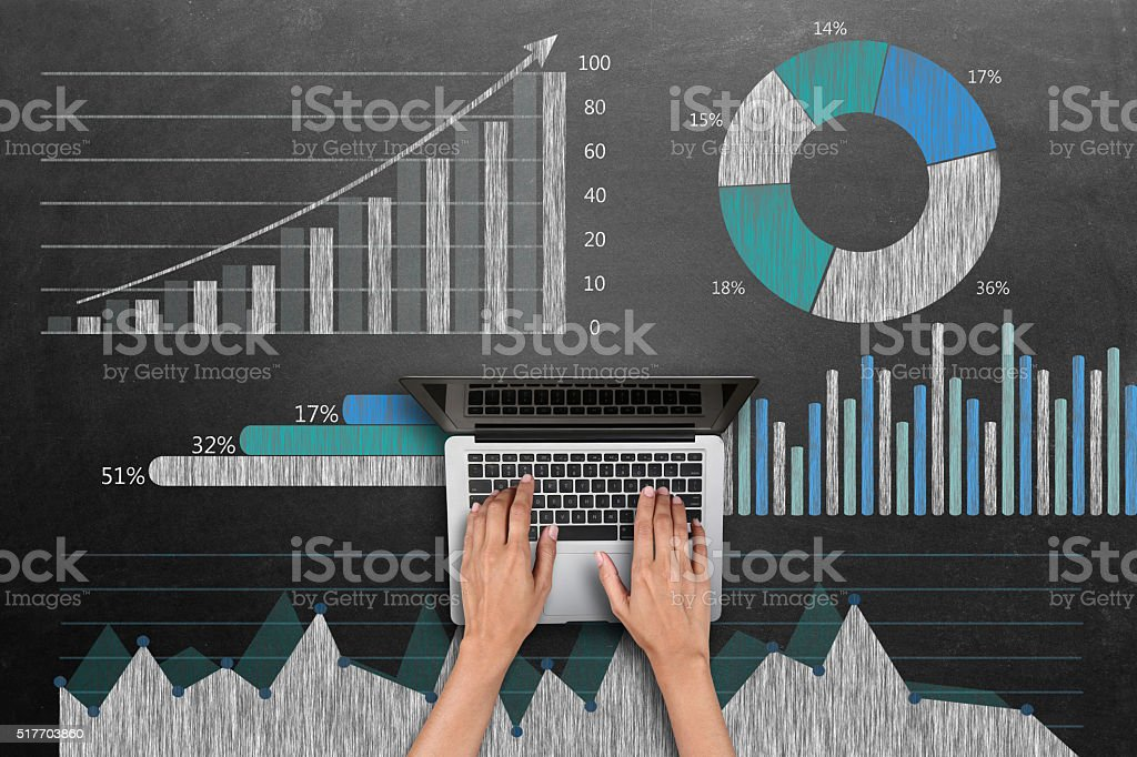 Business graph concept stock photo