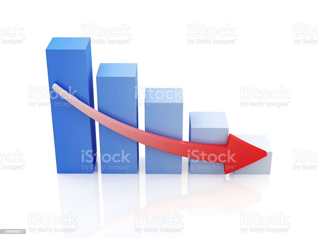 Business Graph Decline stock photo