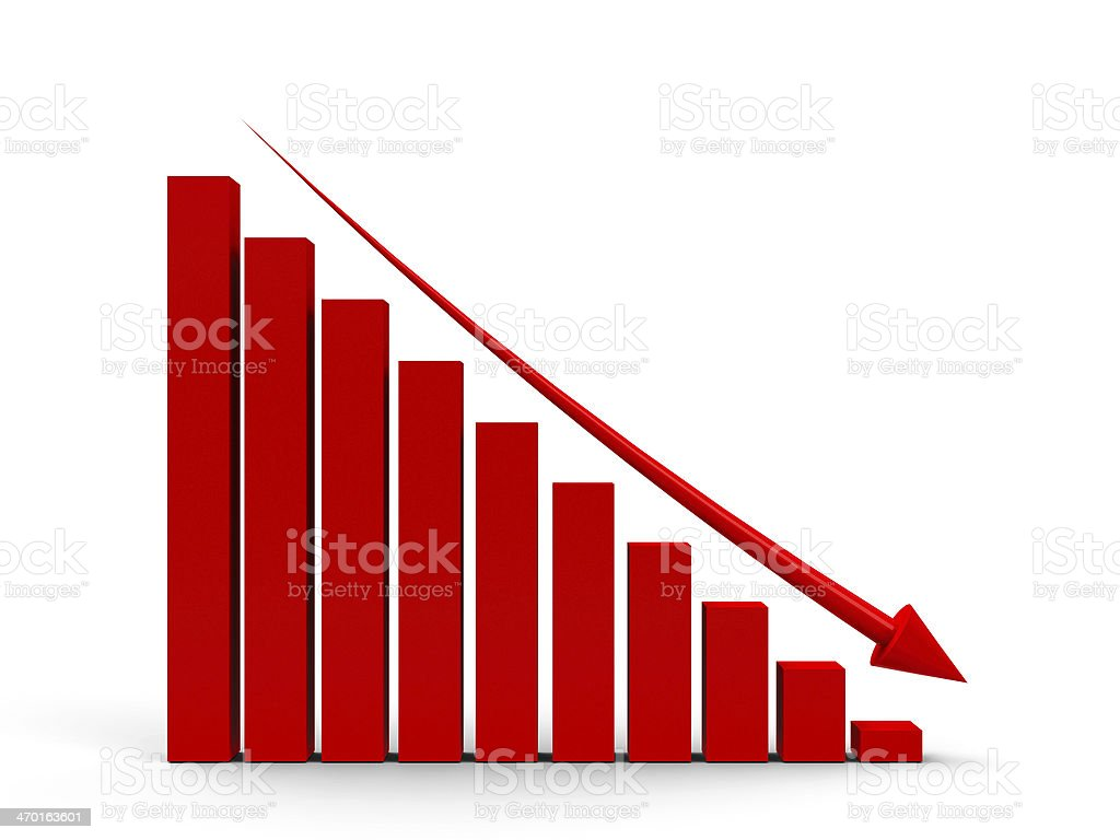 Business graph down stock photo