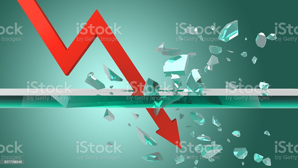 business graph fall 3D rendering stock photo