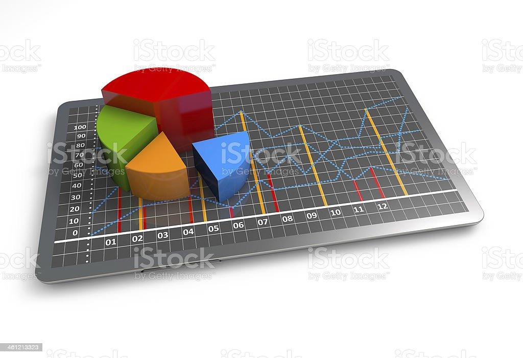 Business graph growth stock photo