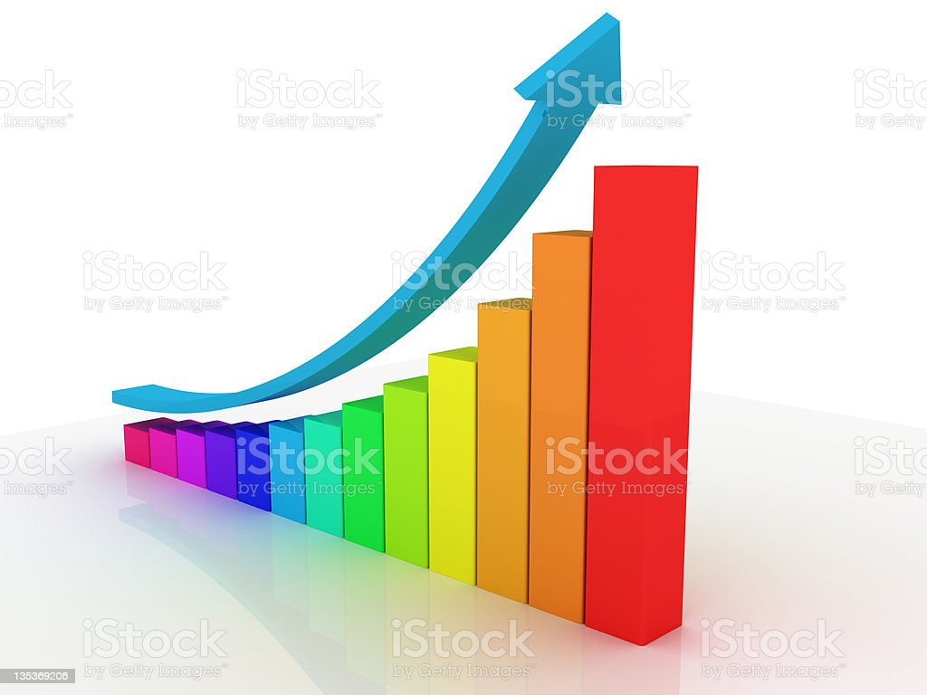 Business Graph - Multicolor Diagram royalty-free stock photo