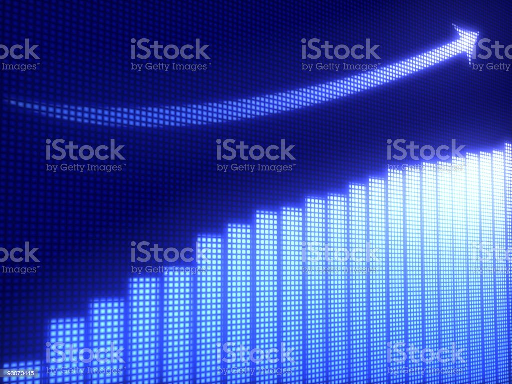 Business graph stock photo