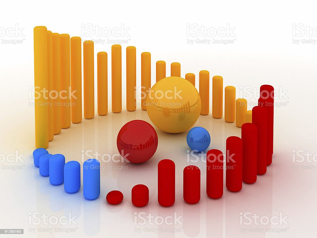 Business Graph v15 royalty-free stock photo