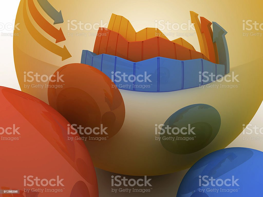 Business Graph v18 royalty-free stock photo