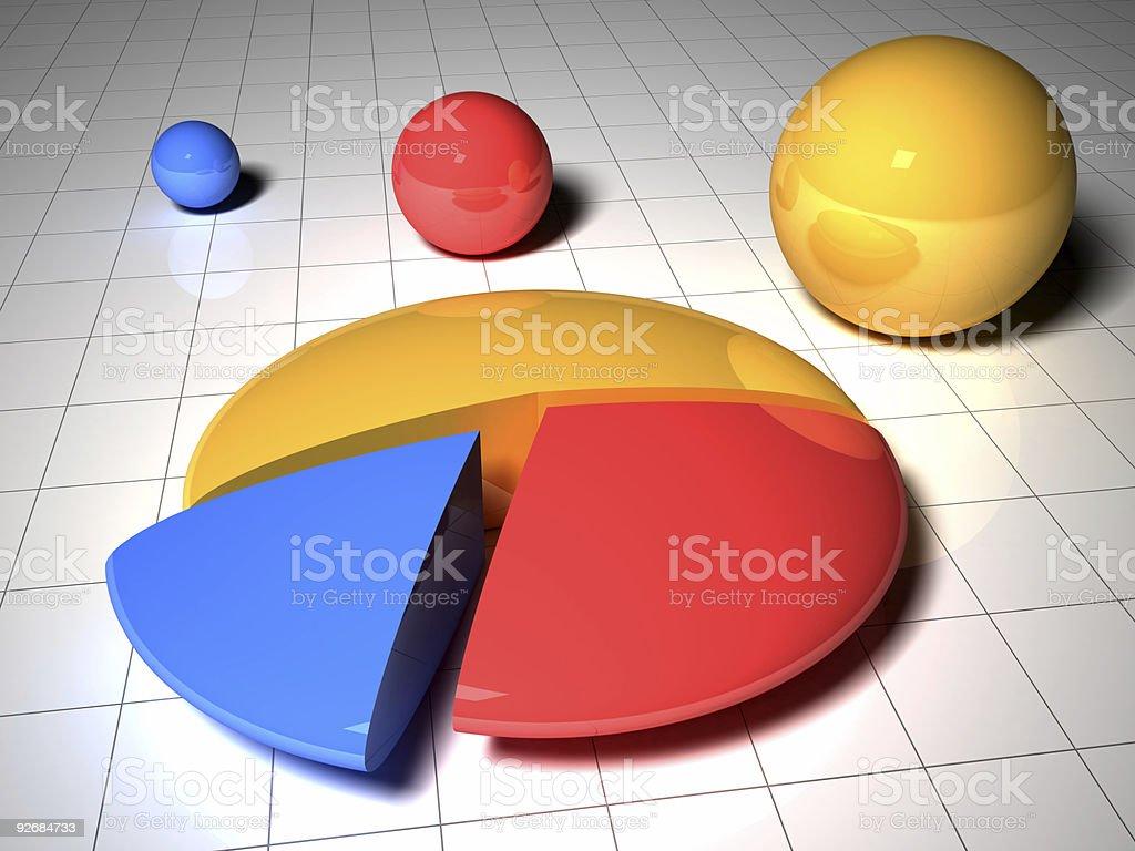 Business Graph v3 stock photo