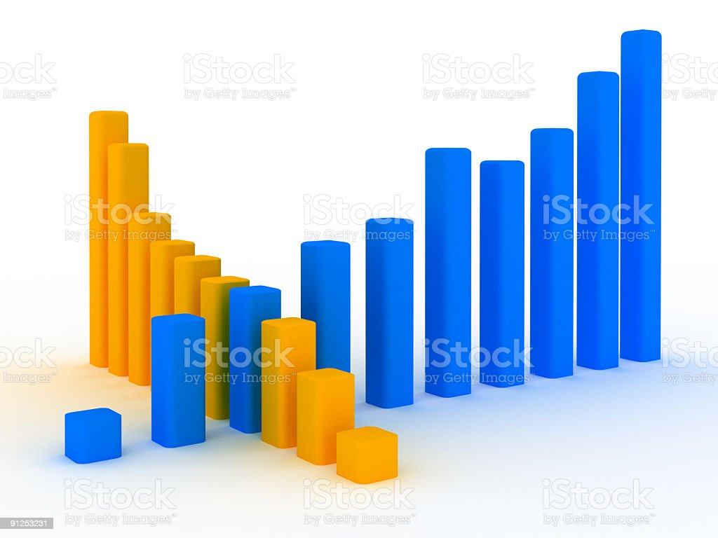 Business Graph v5 royalty-free stock photo