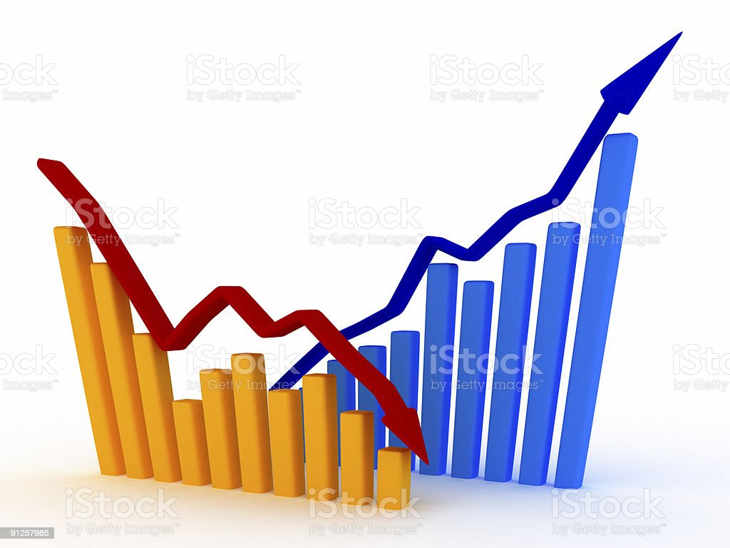 Business Graph v6 stock photo