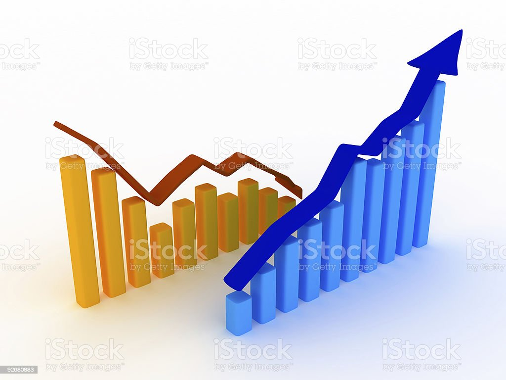 Business Graph v7 royalty-free stock photo