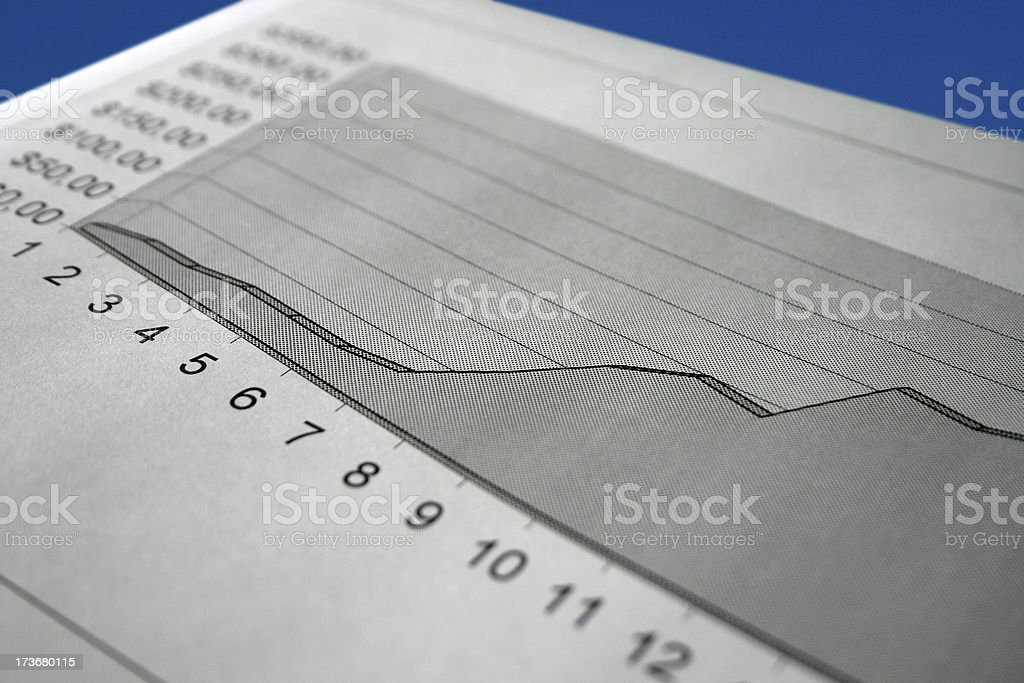 Business graph with blue background royalty-free stock photo