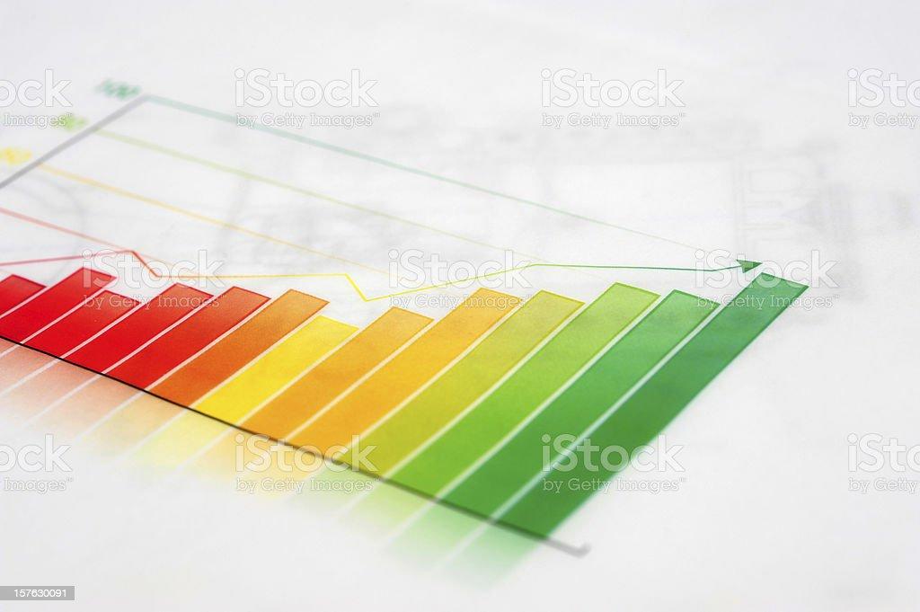 Business Graph-Growth Concept-Business Finance Success Chart stock photo