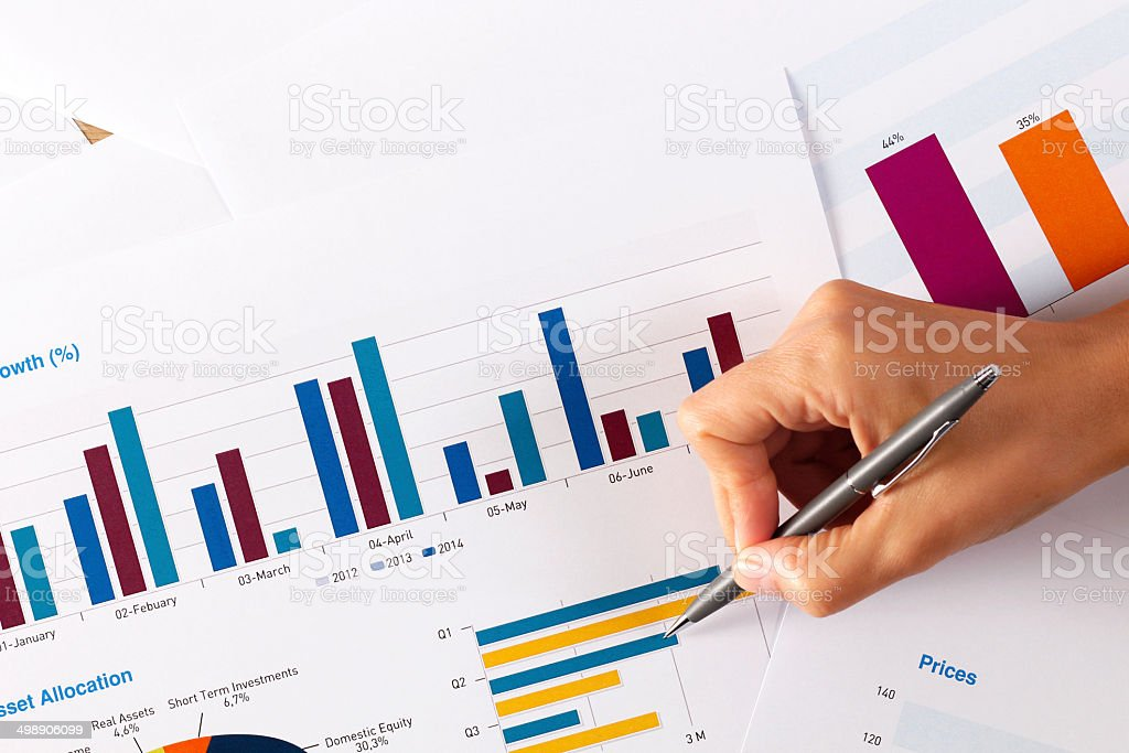 Business Graphs and Charts stock photo