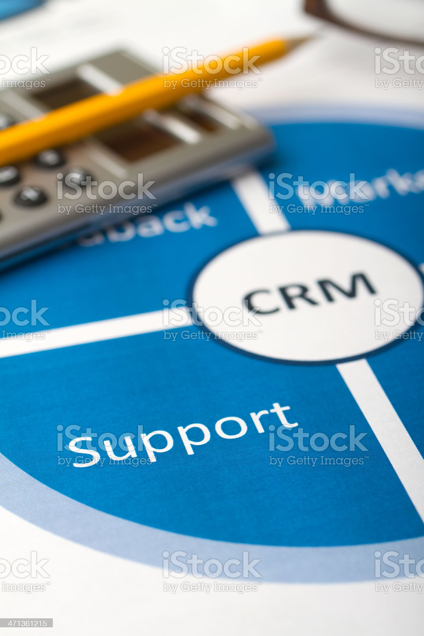 Business graphs & charts Customer Relationship Management royalty-free stock photo