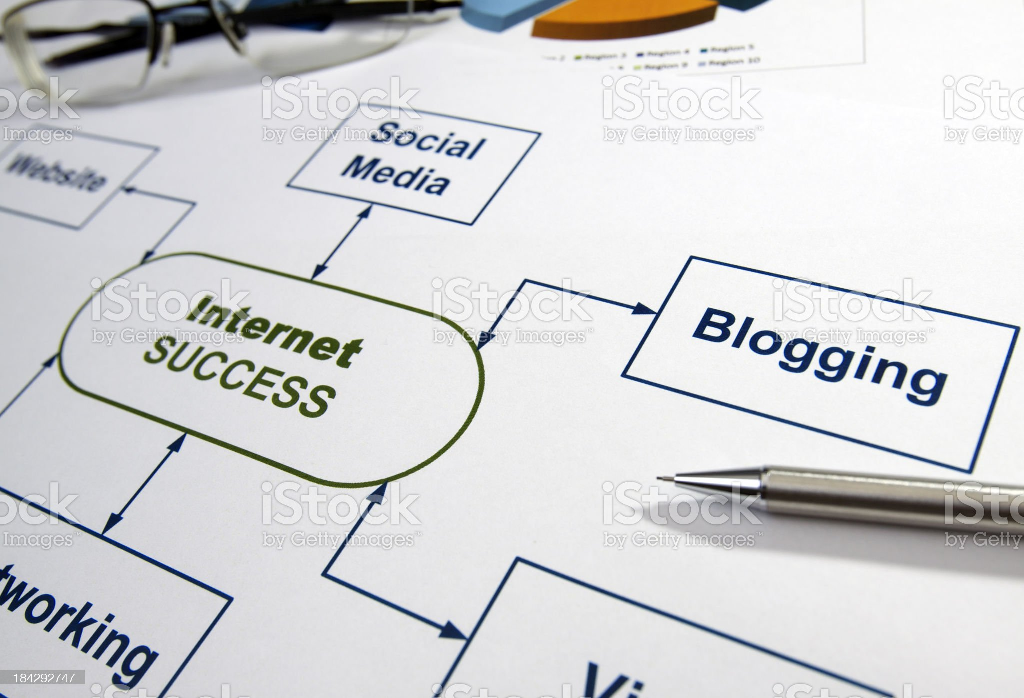 Business graphs & charts Internet Success royalty-free stock photo