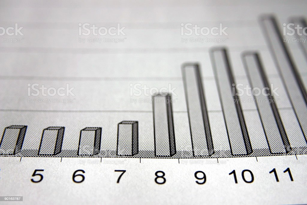 Business graphs royalty-free stock photo