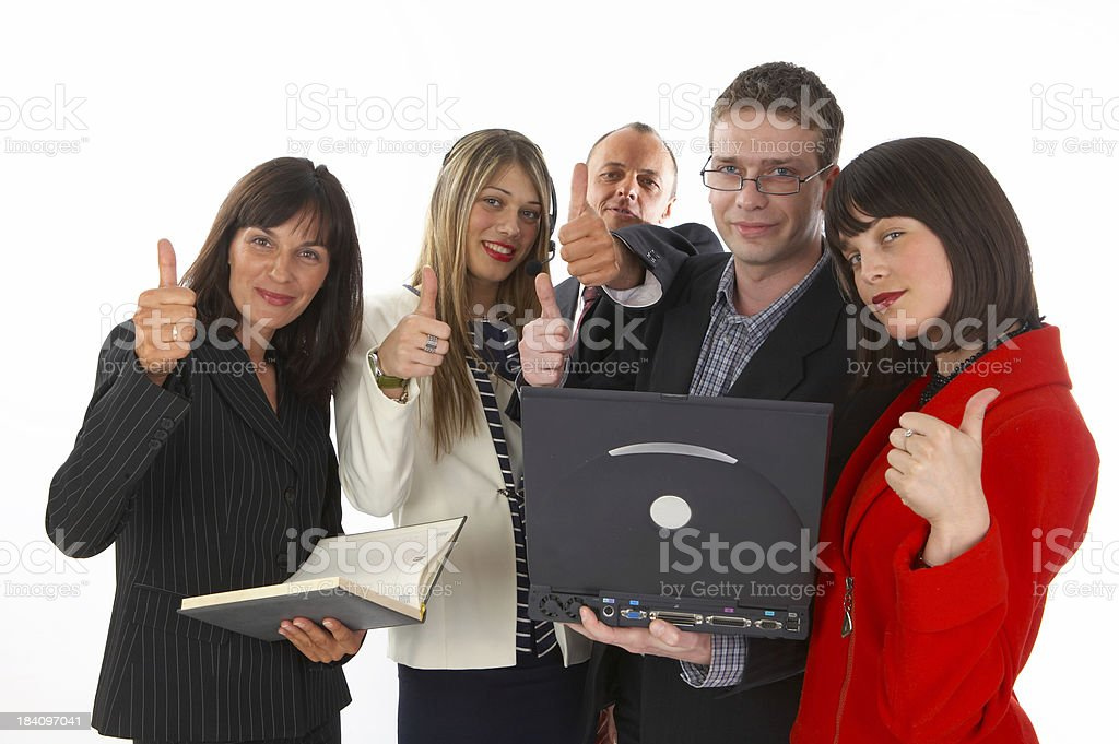 Business group - 5 persons stock photo